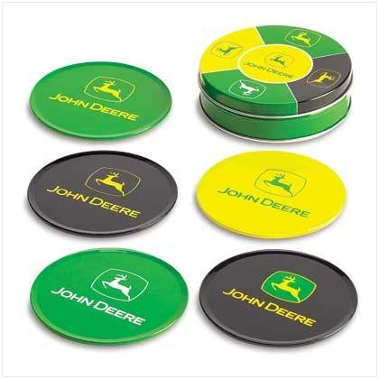 John Deere Tin Coaster Set