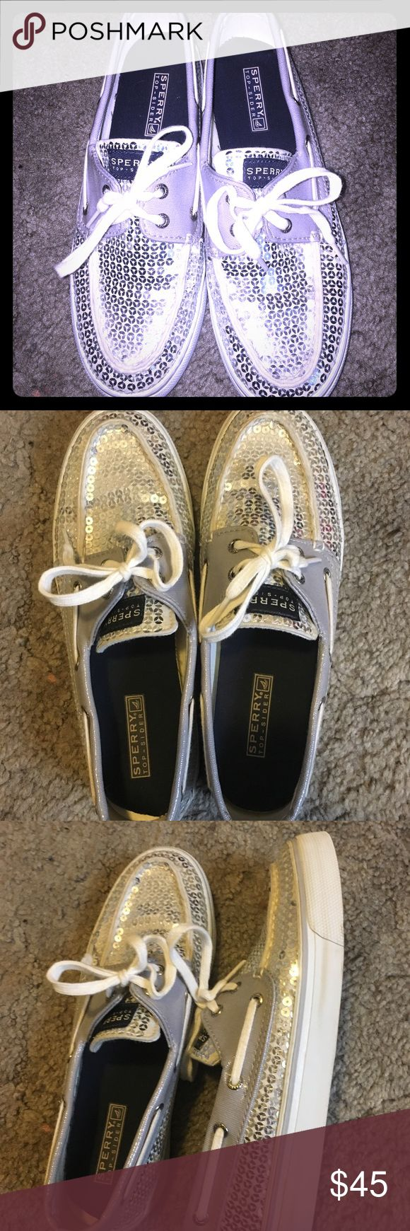 ☃️SALE! ❄️ Sequins Sperry's In excellent condition! They're a little too big on me. Not firm on price so please make an offer! 😊 Sperry Shoes