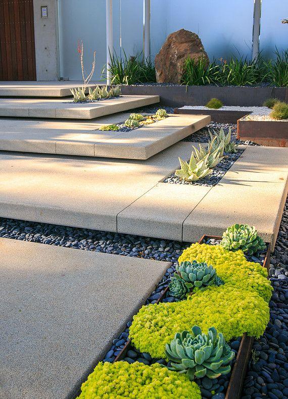 concrete garden steps
