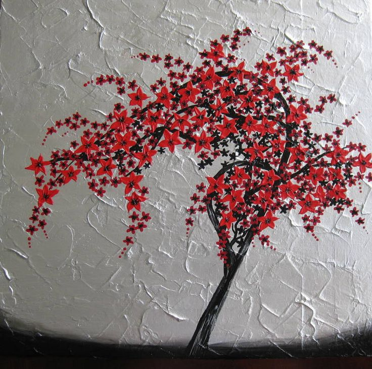 red, black, silver, gray, grey, wall painting, paintings ...