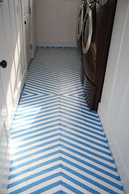 how to paint tile floors - a tutorial - I'd love to do this with my kitchen tile