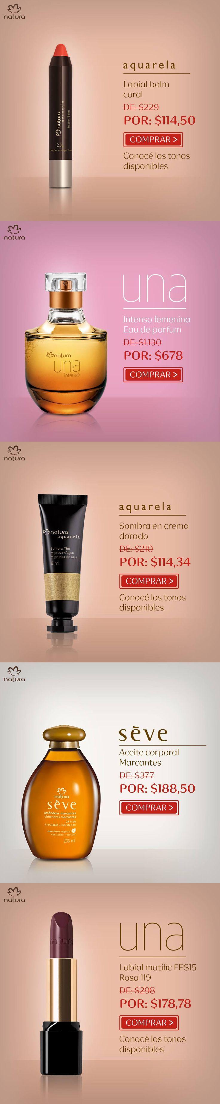 Ofertas para La Republicar Argentina de Natura Cosmeticos en mi Espacio Digital | Descuento Adicional para Clientas VIP | Natura Seve Ekos Una Tododia Maquillaje Perfumes