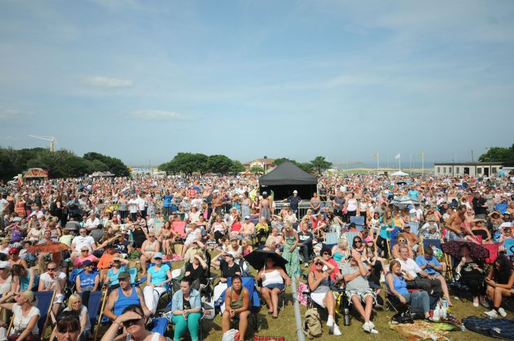 Crowd at the South Tyneside Summer Festival FREE Sunday Concert.