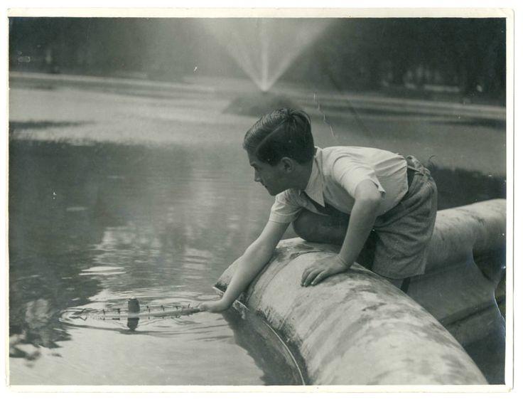 GIOCHI D ACQUA DEL BIMBO Vecchia Foto d Epoca Old Photo del 1930 Vintage  F254