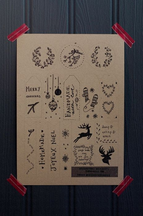 16 illustrated gift tags by Decorator's Notebook - free printable