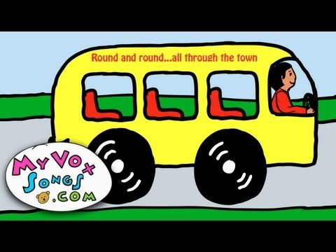 The wheels on the bus (all through the town) - nursery rhymes