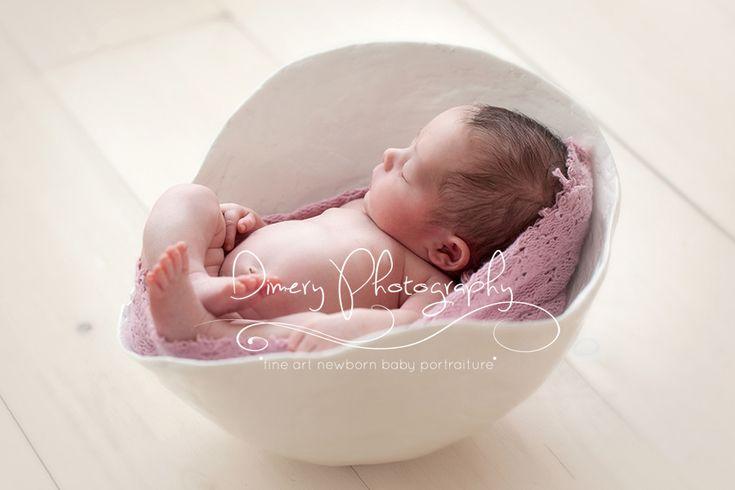 belly cast photo prop ideas, newborn baby girl sleeping in belly cast, simple newborn photo, sweet baby girl, natural light portrait studio © Dimery Photography 2013