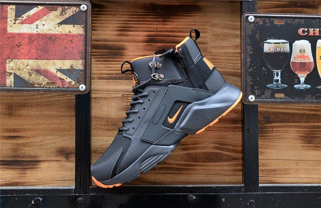 8f85e64fec78 New Arrival NIke Huarache X Acronym City MID Leather Winter Men s Running  Sports Shoes Carbon   Orange
