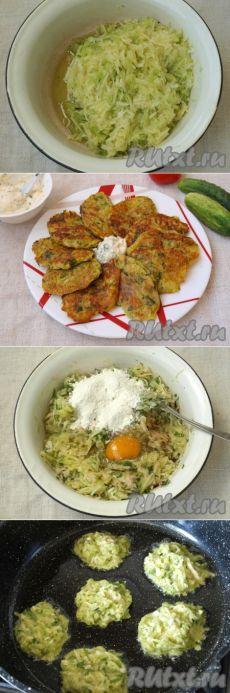 Оладьи из картофеля и кабачков  =Для приготовления картофельно-кабачковых оладий нам понадобится: картофель - 2 шт.; кабачок - 1 шт.; лук репчатый - 1 шт.; чеснок - 2 зубчика; свежий укроп и петрушка - 0,5 пучка; мука пшеничная - 2-3 ст. л.; яйцо куриное - 1 шт.; соль, перец - по вкусу; масло подсолнечное - для жарки.