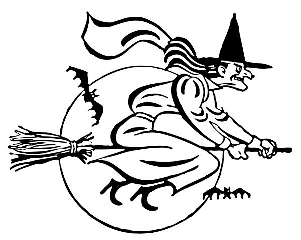 271 best Witch coloring images on Pinterest Coloring books