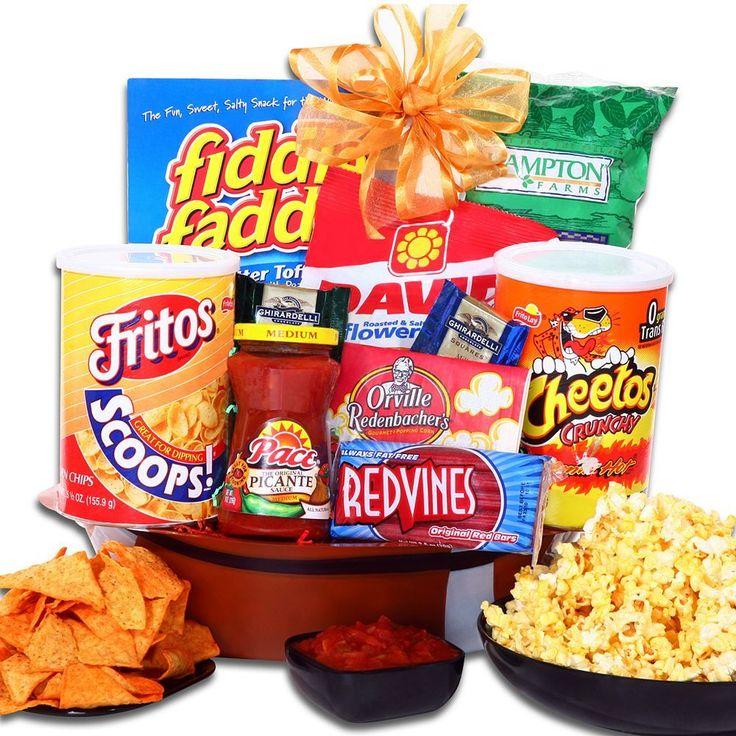 """Alder Creek """"Game On!"""" Football Snack Gift Basket, Multicolor"""