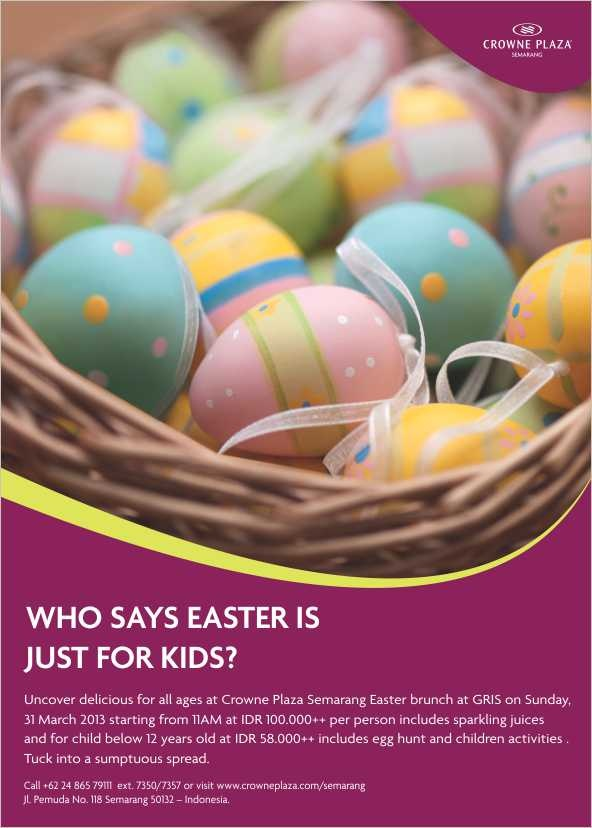 Easter is just around the corner! What's ur plan? Please come and join our Easter Brunch!
