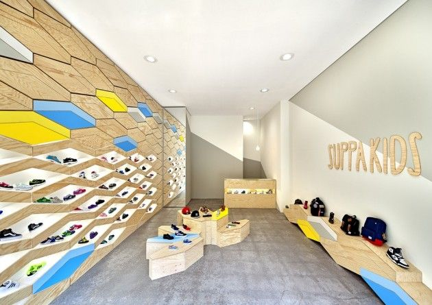 Swiss architecture firm ROK – Rippmann Oesterle Knauss, have recently completed the Suppakids Sneaker Boutique in Stuttgart, Germany.