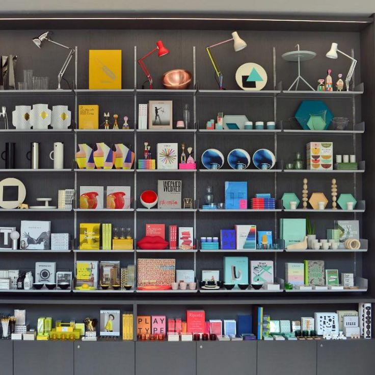 Shelving display at the new Design Museum Shop