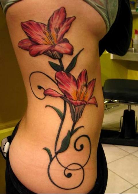 girl flower tattoos