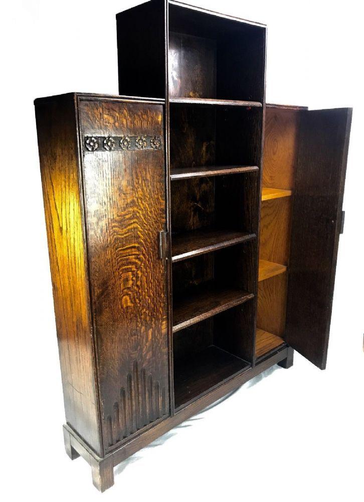 art deco style wooden cabinet shelf unit storage unit cupboard rh pinterest com