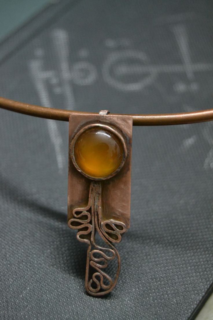 copper & agate stone By : Aya Fayez