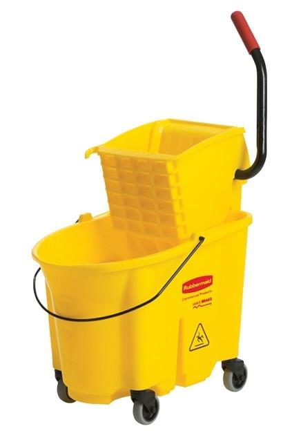 Sidepress Wringer Bucket Combo: Mop wringer and bucket side press
