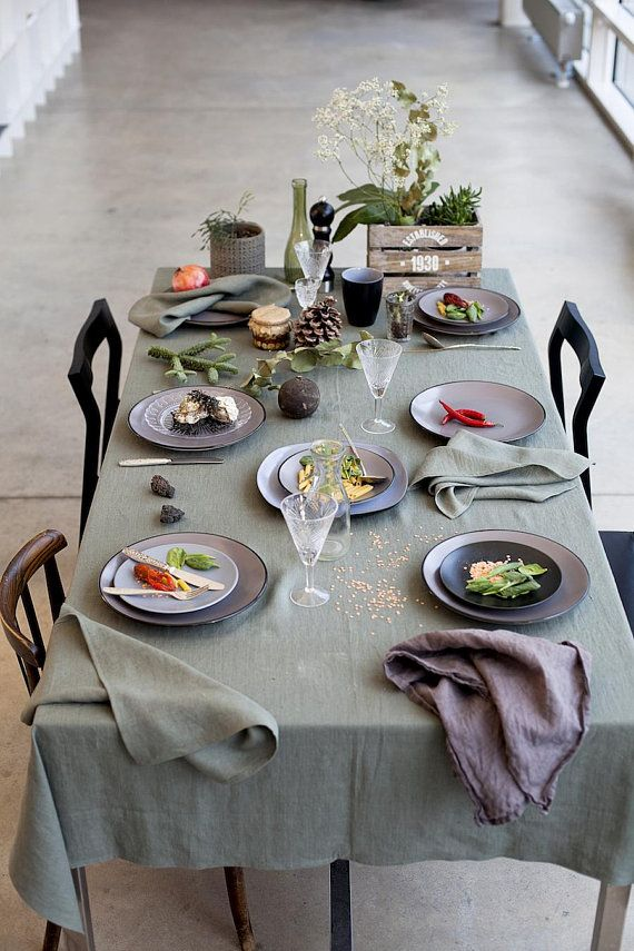 Moss Green Tablecloth Table Linens Dining Accessories Green