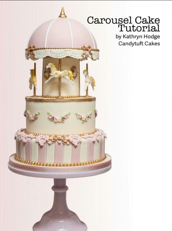 Carousel cake tutorial                                                                                                                                                                                 Mais
