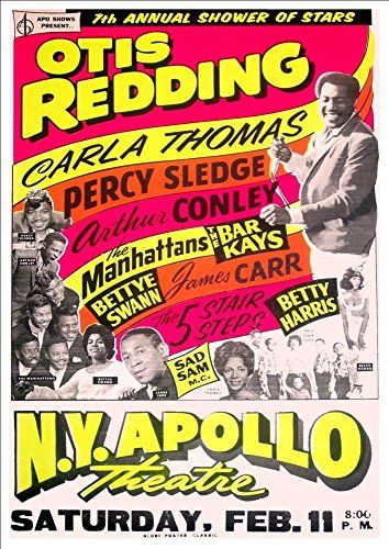 'Otis Redding' At The New York Apollo Theatre (2) - Fantastic A4 Glossy Print Taken From A Vintage Concert Poster by Unknown http://www.amazon.co.uk/dp/B00MDEXZMQ/ref=cm_sw_r_pi_dp_KNXmvb0W8NSZP