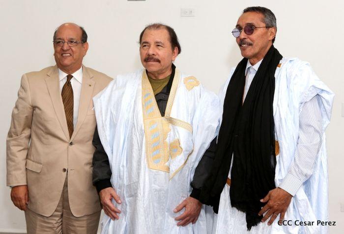 Presidente de Nicaragua, Daniel Ortega, recibe al presidente del Parlamento Saharaui