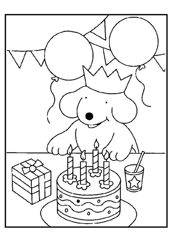Kleurplaat: verjaardag