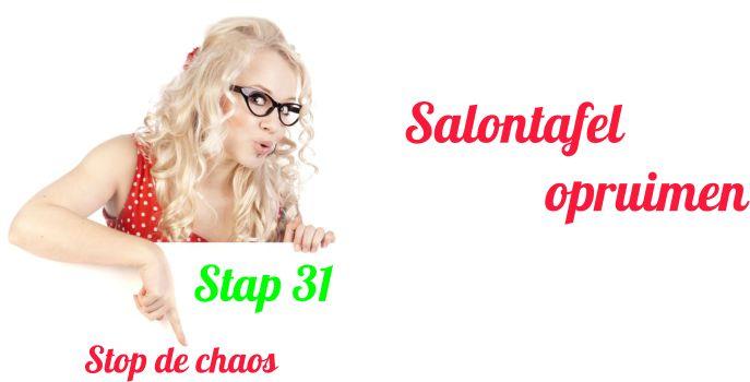Salontafel opruimen stap 31 van stop de chaos - Slim Huishouden
