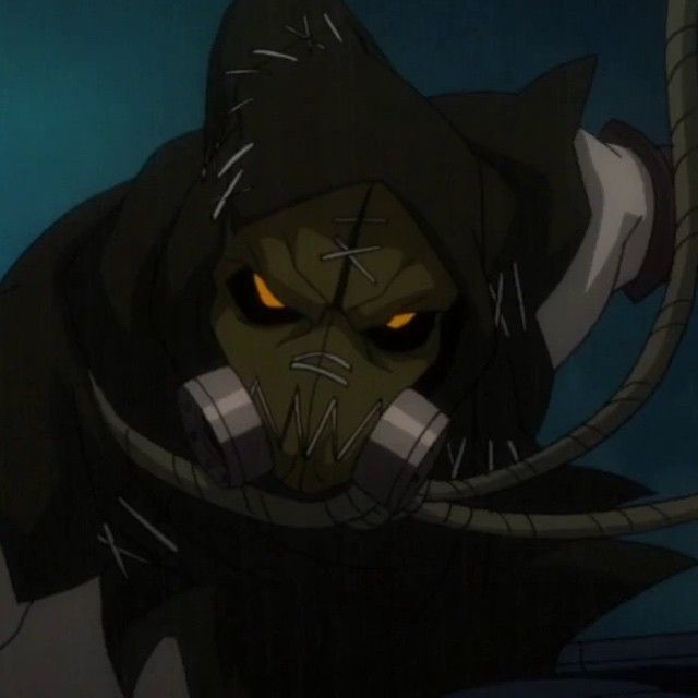 "Scarecrow from ""Batman: Assault on Arkham."" Preparing for tomorrow's release of ""Batman: Arkham Knight."" #batman #batmanarkhamknight #batmanassaultonarkham #dcanimation #bethebatman #scarecrow #arkhamknight #batmanarkham"