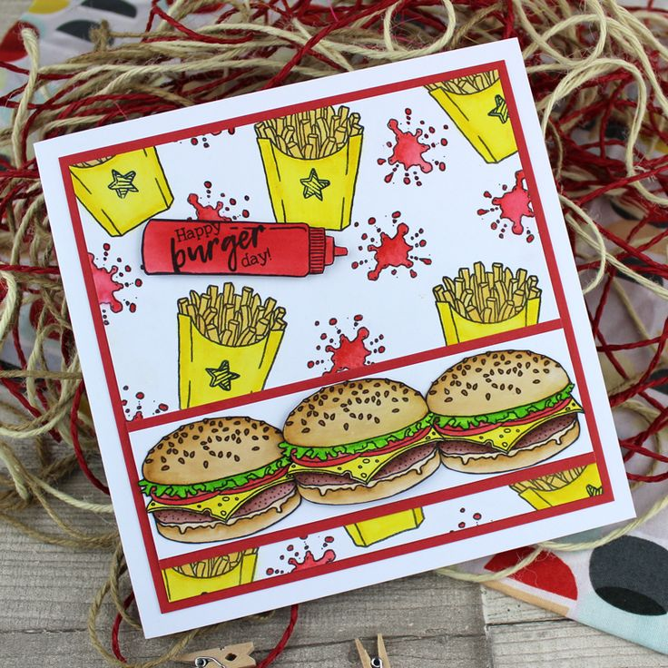 Card created using For the Love of Stamps by Hunkydory Crafts Fast Food Fun Stamp Set