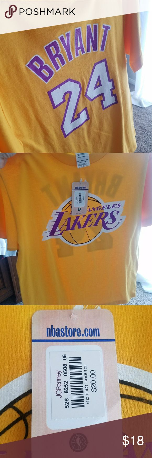Kobe Bryant Lakers shirt Brand new.  I believe this is a youth size but I can wear it as an adult. Tops