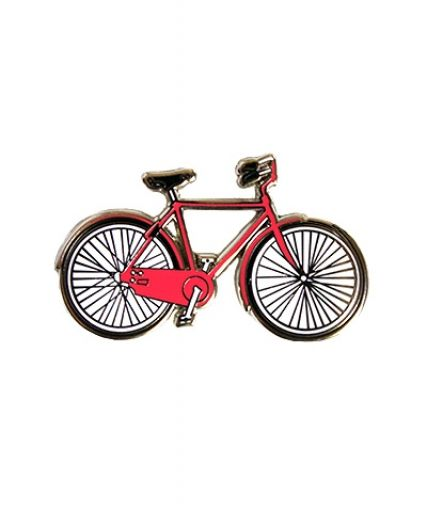 Enamel Bicycle Pin (Red) : Greenwich Letterpress ...