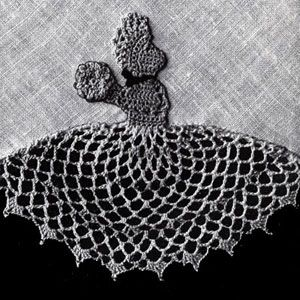 Flower Girl Insertion crochet pattern from Flower Edgings, originally published by American Thread Company, Star Book 65 in 1949.