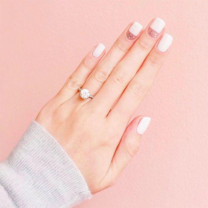 Classic square nail shape