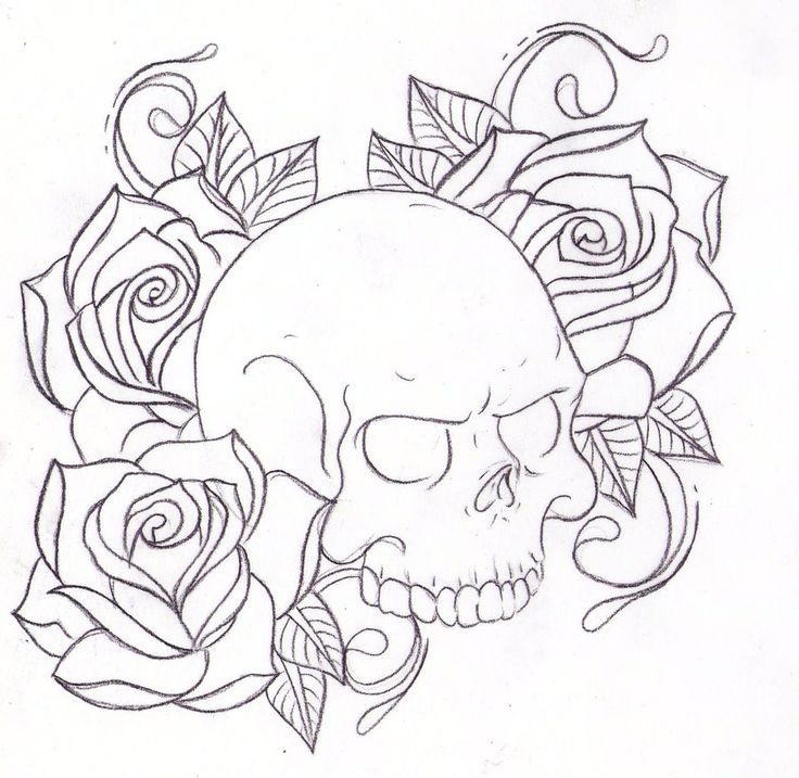 top 25+ best skull and rose drawing ideas on pinterest | skull ... - Coloring Pages Roses Skulls
