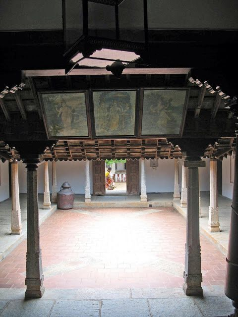 traditional courtyard in house