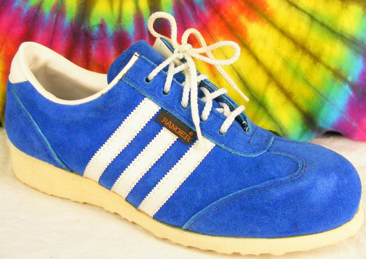 7 5 M Vintage 80's Blue Suede Ranger Steel Toe Oxfords Sneakers Tennis Shoes | eBay