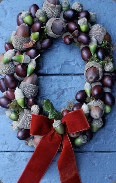 .fall winter wreath