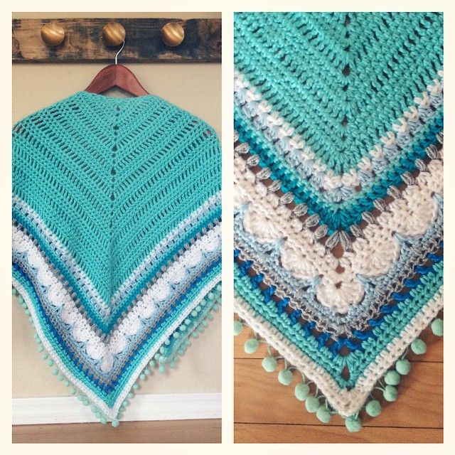 Sunday Shawl - crochet pattern from The Little Bee https://www.etsy.com/nz/listing/196313873/crochet-shawl-pattern-instant-download?ref=shop_home_feat_1 photo credit @lacelace30 on Instagram