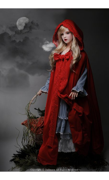Fantasy | Whimsical | Strange | Mythical | Creative | Creatures | Dolls | Sculptures | Little Red Riding Hood by DollMore