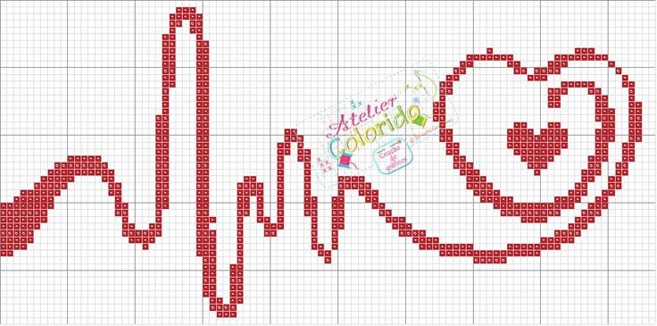 Swirly red heart
