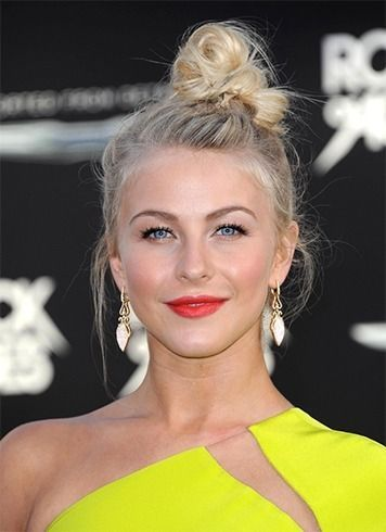 #HairStyles  Best Hairstyles Ideas : Messy top knot