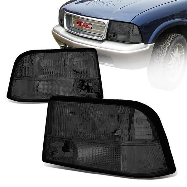 98 05 Gmc Jimmy Sonoma Oldsmobile Bravada Headlights Smoked Housing Oldsmobile Gmc Headlights