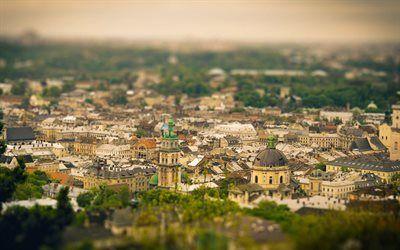 Scarica sfondi ucraina, lions, città vecchia, panorama lviv