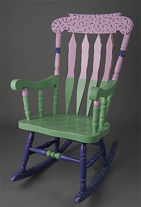 Mejores 15 im genes de painted chairs en pinterest for Sillones de mimbre pintados