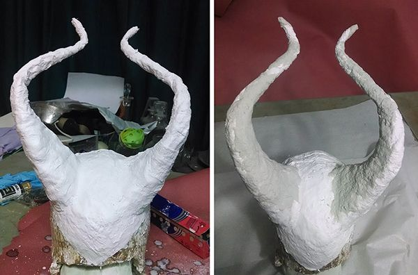 """Back in October, I posted a Cosplay Tutorial: Maleficent's Staff. As Maleficent has been one of the costumes that generates the most email questions for me, seemed like a good idea! I have been meaning to post a tutorial on how to make the headpiece, but - as it turns out - I didn't take any photos of the earlier steps. So, here we are with a """"How I Made That"""", instead! So, let me first detail what all went on before I thought to start taking photos 🙂 1 - I had a cement ..."""