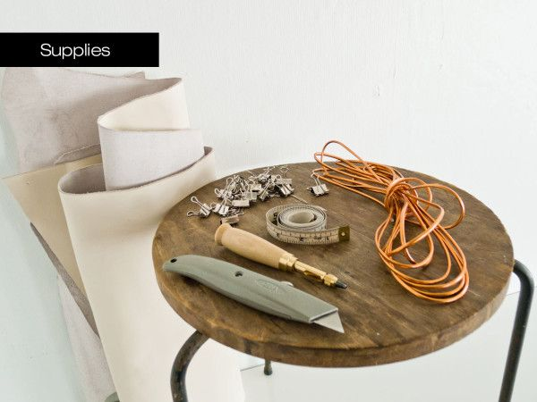 DIY-Stitched-Leather-Stool-Supplies -- http://design-milk.com/make-it-modern-diy-minimal-leather-stool-cover/