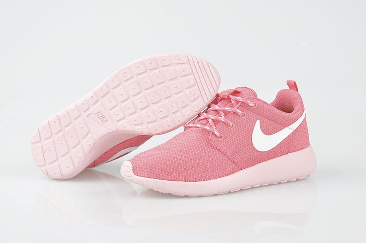 Dames Nike Roshe Run Zalmroze Wit Running Sneakers Pink Dream,it's time!