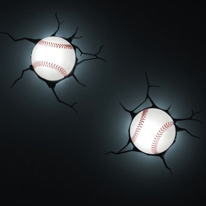3D Wall Art Nighlight - Baseball$16.99 online price SALE reg: regular price  $19.99  - save (15%) 3D Wall Art Nighlight - Baseball
