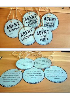 Group Roles Badges and Job Plates - Giving children individual responsibilities during group challenges.